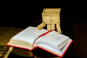 Danbo Reading by Daniel Go