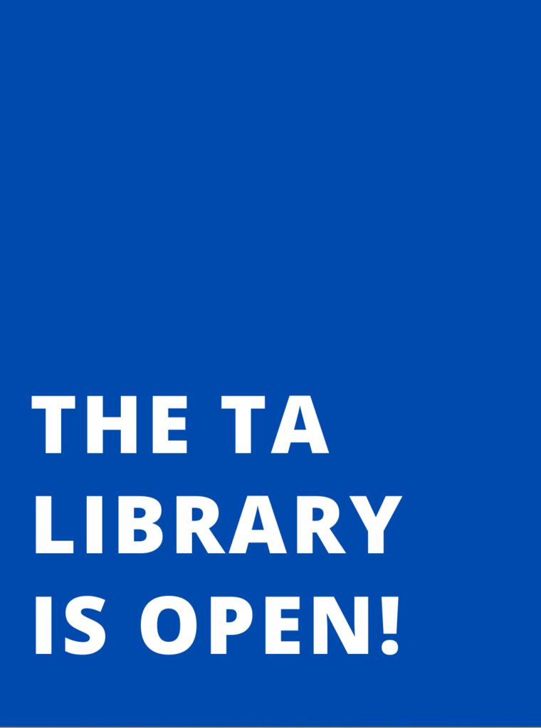 The TA Library is OPEN