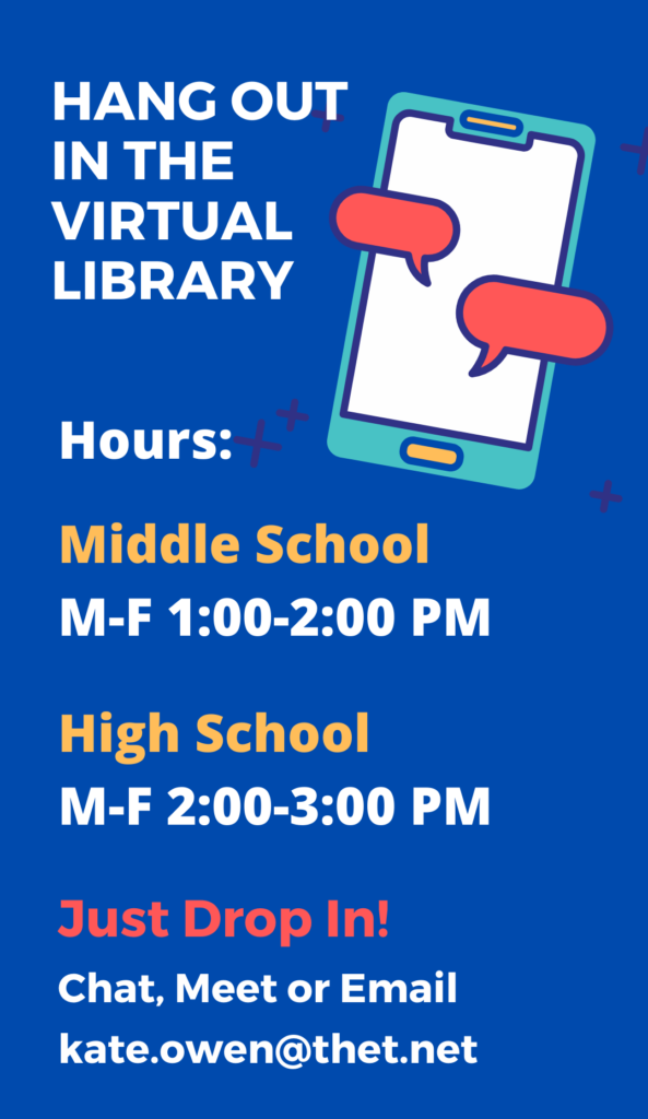 Hang out in the virtual ta library